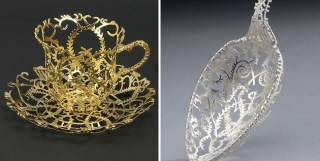 Artist Transforms Everyday Tableware Into Ornate Filigree Sculptures