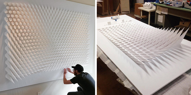 Excellent Masterpiece By Artist Who Uses Engineering For Folding Paper Into Geometric Sculptures
