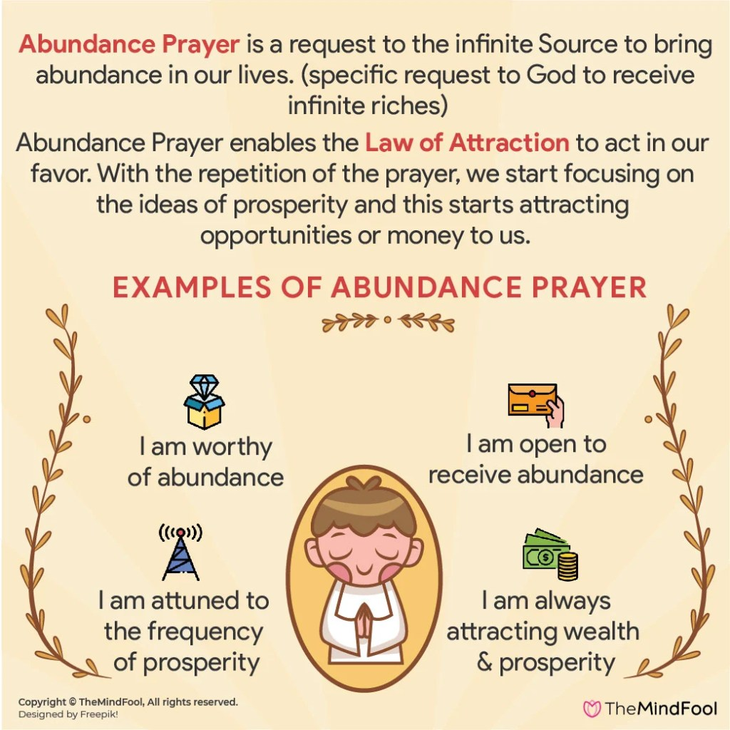 What is Abundance Prayer and examples of Abundance Prayer