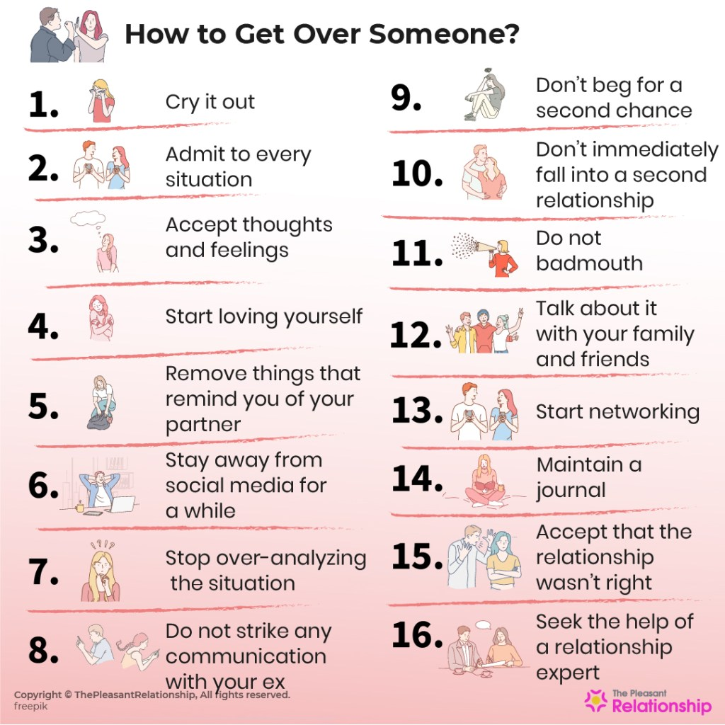 How to get over someone you love the most? Do's and Don'ts