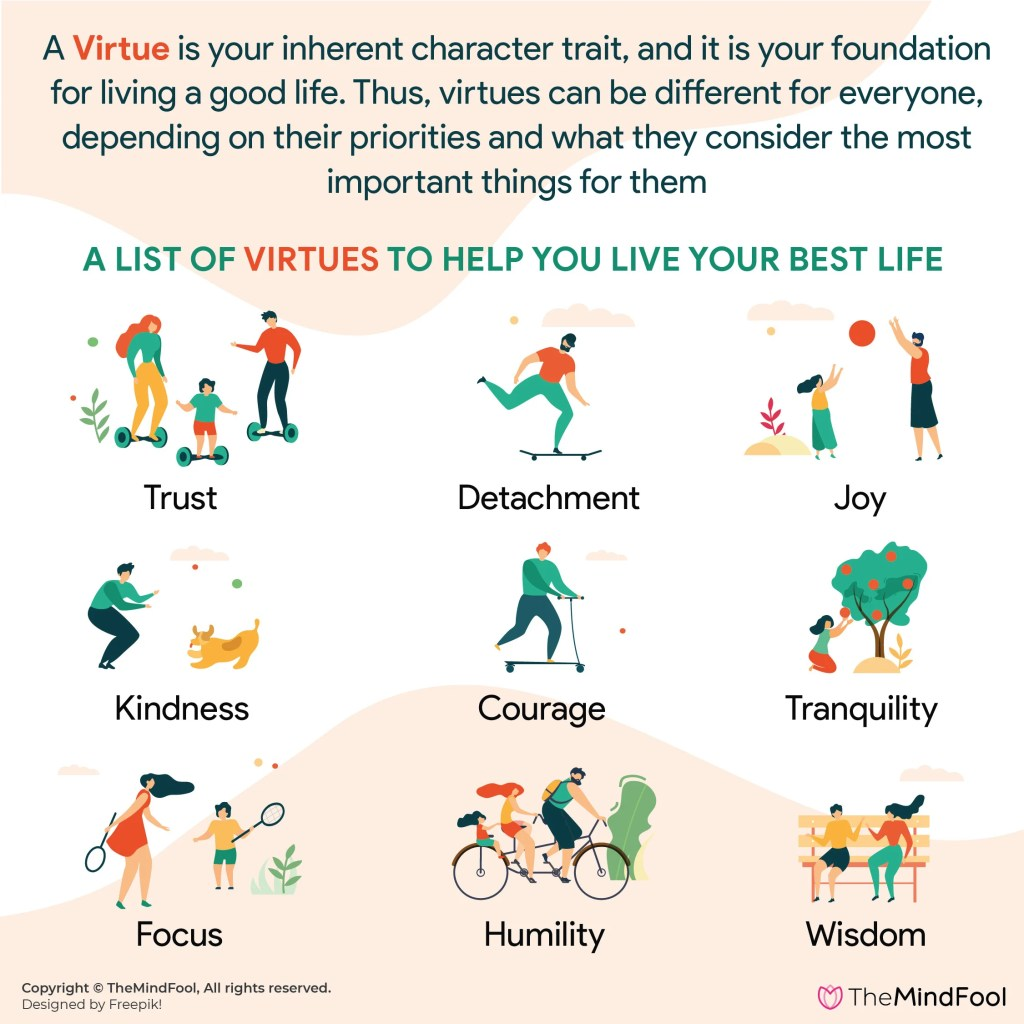 A List of Virtues to Help You Live Your Best Life!