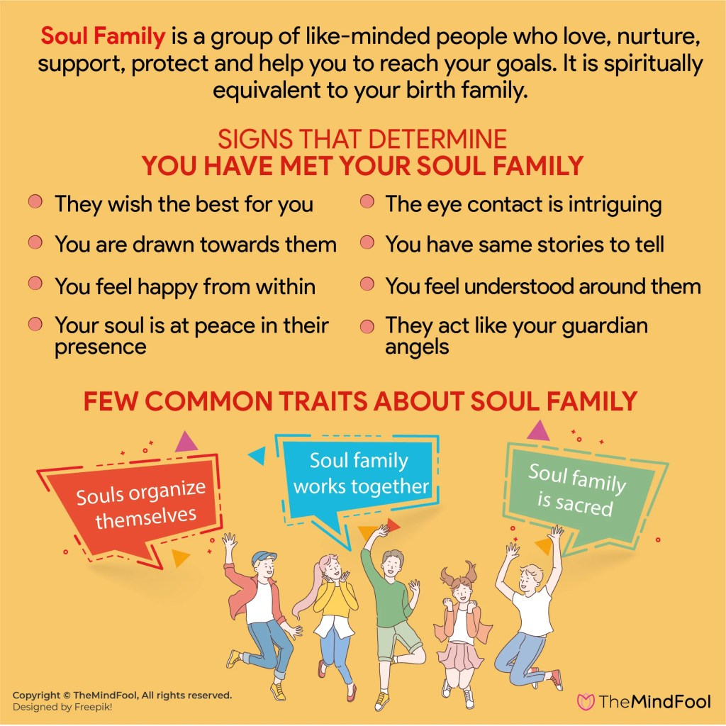 What is soul family. Signs that determine you have met your soul family.