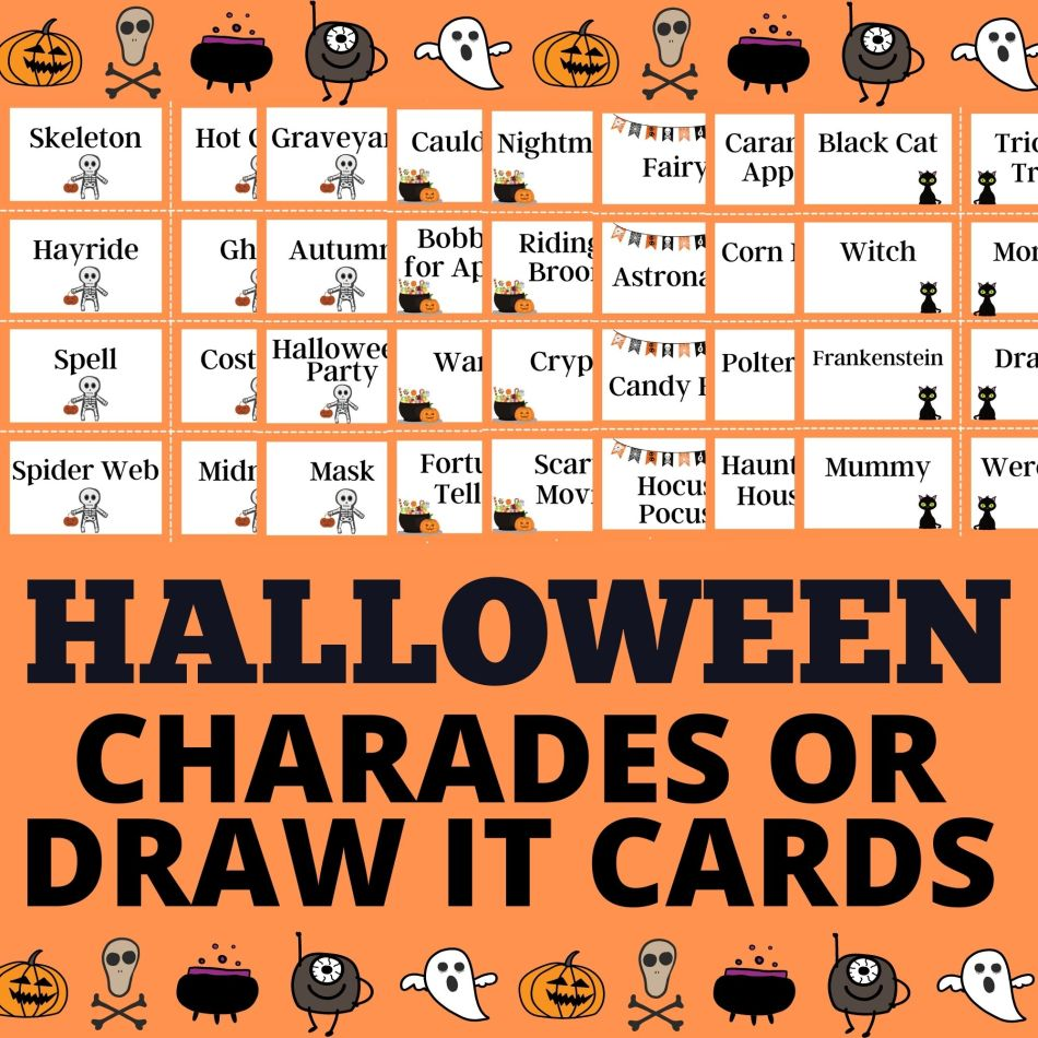 Halloween Charades or Draw It