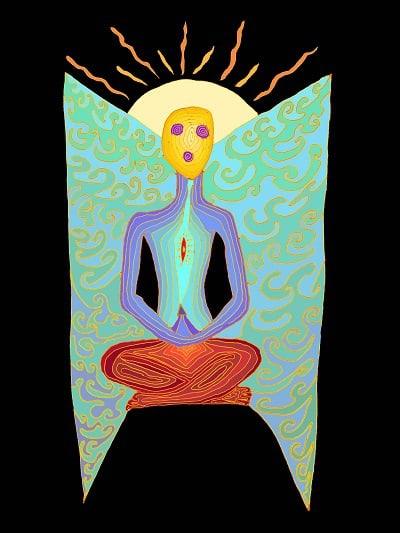 Ilustración del cuerpo espiritual - Poemas de Robert Asha