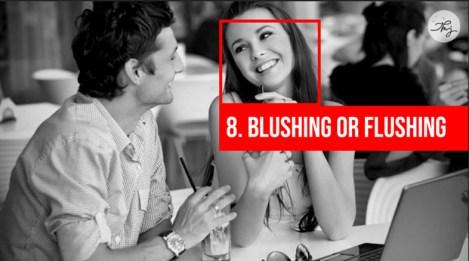 blushing or flushing