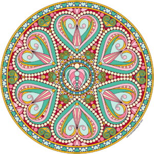 mandala color healing valentine love heart spirit