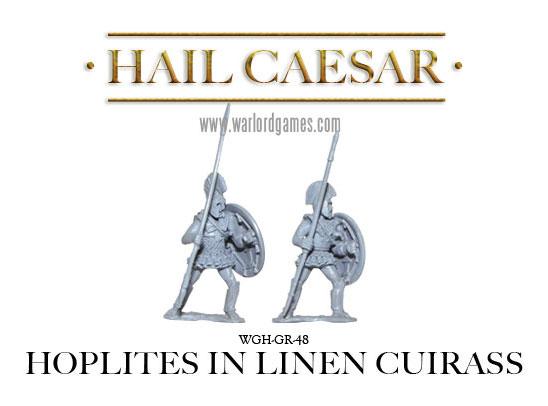 Hoplites in linen cuirass