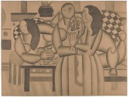 The Siesta Fernand Léger Date: 1922 Medium: Graphite on tan wove paper Dimensions: 18 3/4 × 24 3/4 in. (47.6 × 62.9 cm)