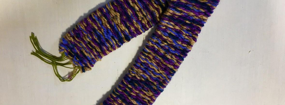 peg loom weaving scarf