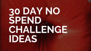 1 month no spend challenge