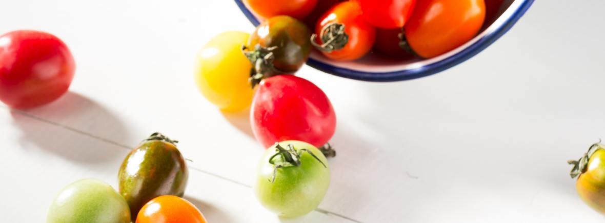 balsamic roasted cherry tomatoes for your vegetarian lasagne
