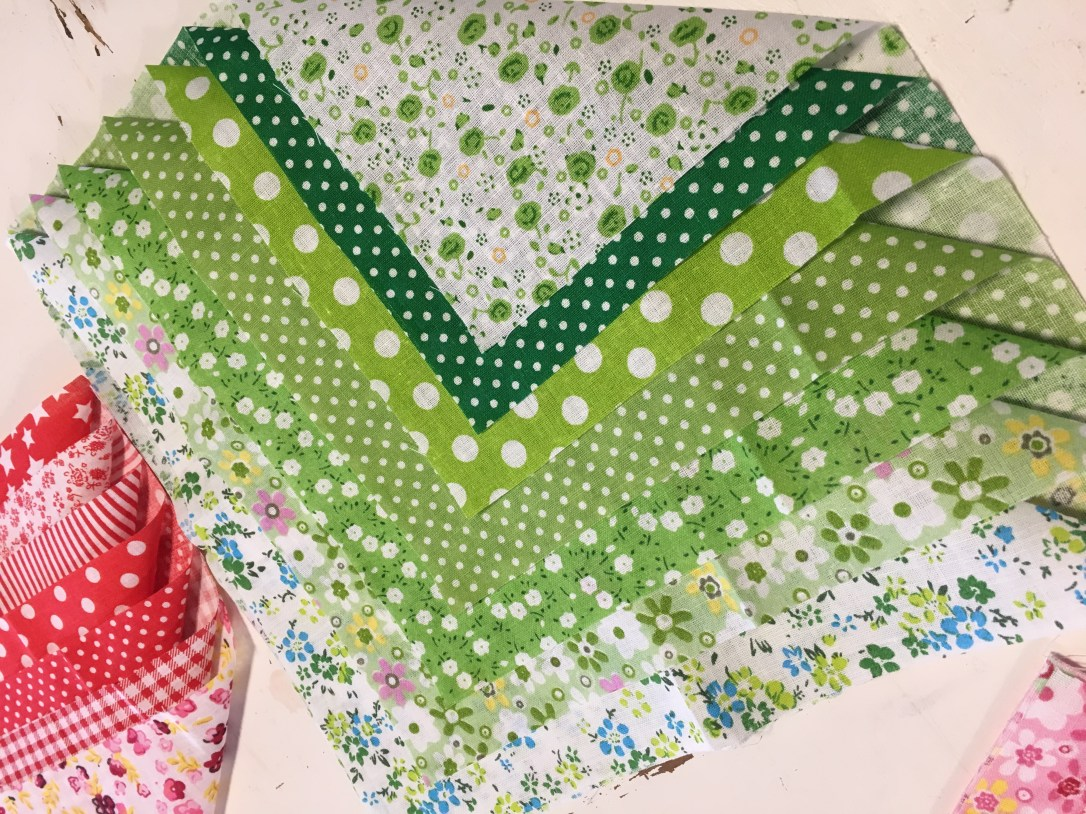 Reusable tissues and handkerchiefs material ready to be sewn