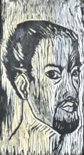 Self Portrait 1963 Woodcut