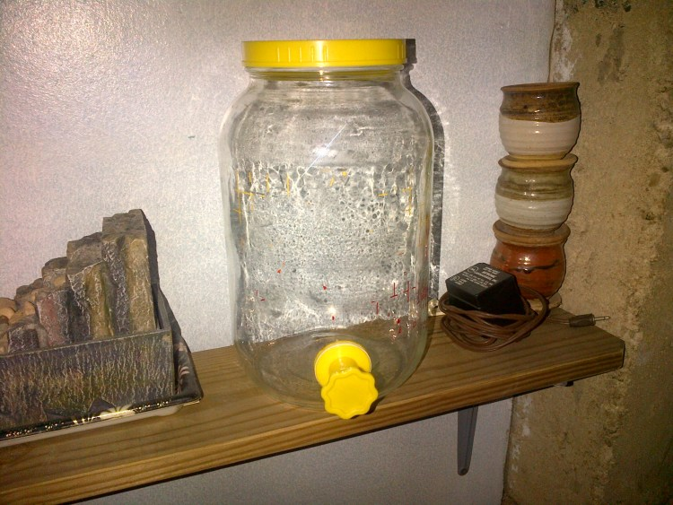 The Mint Chip Mama An old glass jar drink dispencer