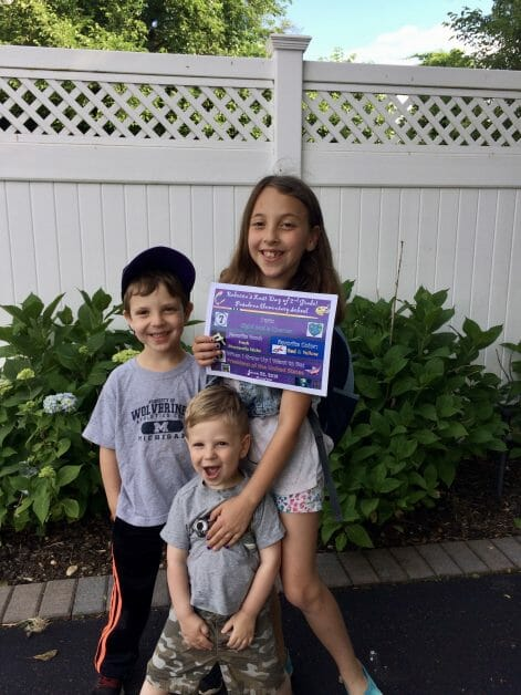 3 kids enjoying their last day of school in 2018