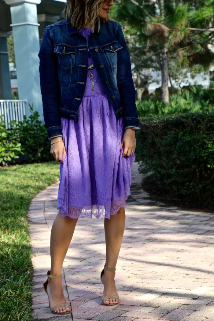 Spring Lace & Lilac Dress