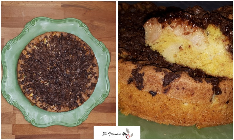 torta di mele e cioccolato - food - The Minutes Fly