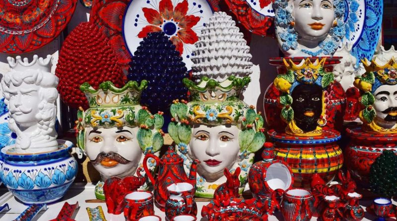 teste di moro - vasi ceramiche Sicilia - the minutes fly - web magazine