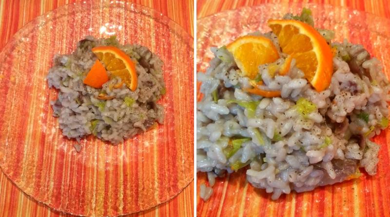 risotto con radicchio, porri al profumo di arancia - nadia coppola - the minutes fly - web magazine