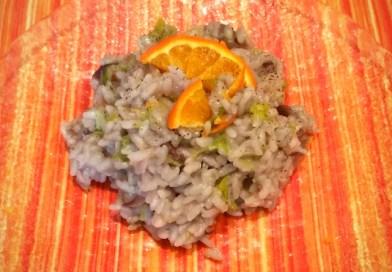 risotto con radicchio, porri al profumo di arancia - the minutes fly - web magazine
