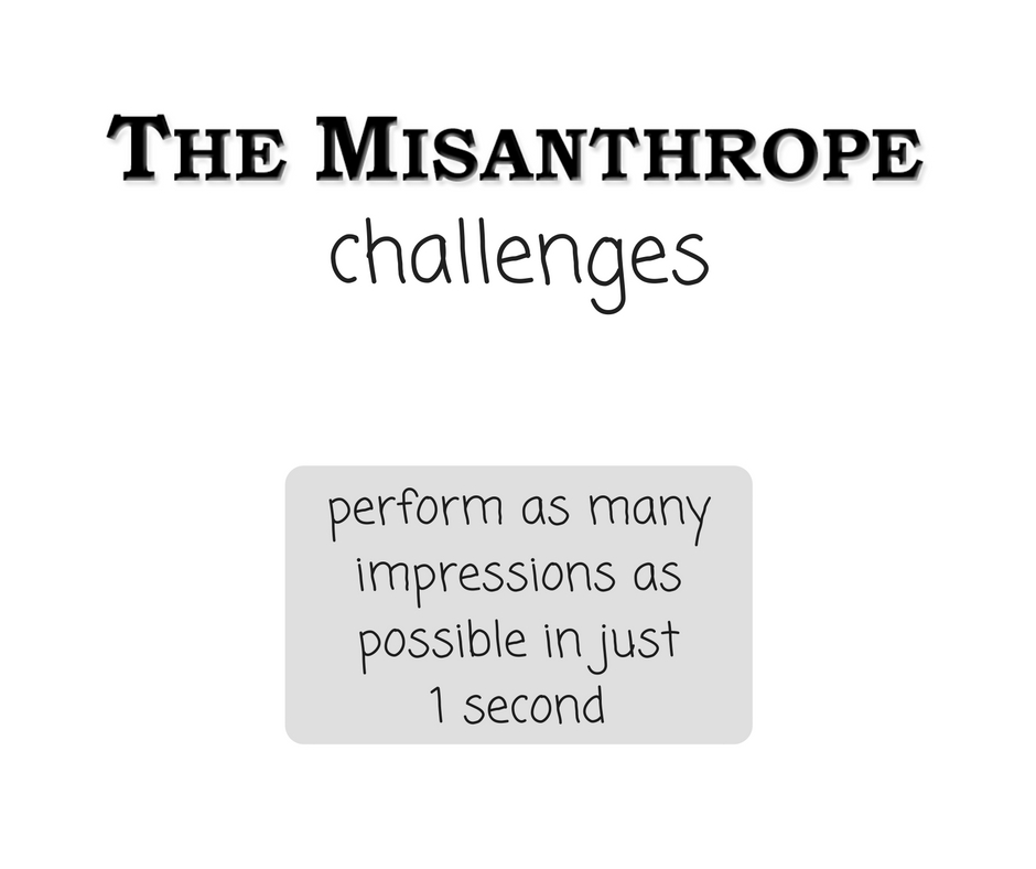 How Many Impressions Can I Do In One Second? | The Misanthrope Challenges