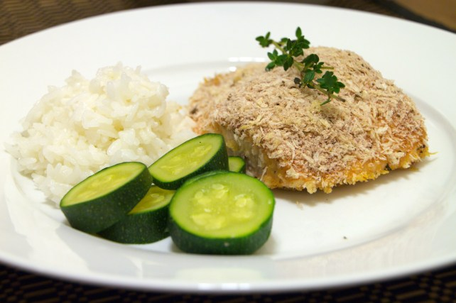 Panko-Crusted Salmon with Honey-Mustard Glaze 1