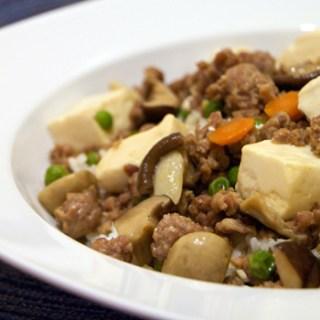 Braised Tofu with Pork and Mushroom