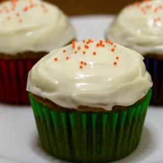 Pumpkin Cupcake with Cream Cheese Icing