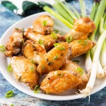 Baked Chicken Wings with Green Onions #chickenwings #wings #baked #greenonion | The Missing Lokness