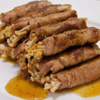 Beef Rolls with Enoki
