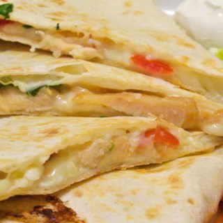 Chicken and Cherry Tomato Quesadillas