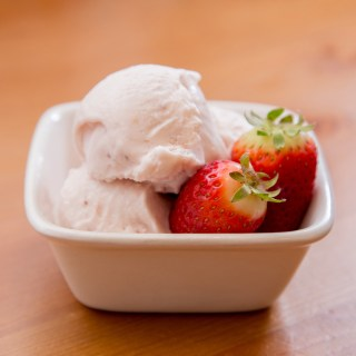 Roasted Strawberry and Buttermilk Ice Cream