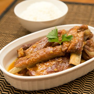 Braised Pork Spare Ribs with Orange Juice