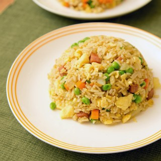 Curry Fried Rice with Spam