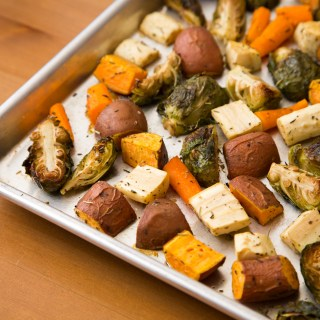 Roasted Root Vegetables and Brussels Sprouts