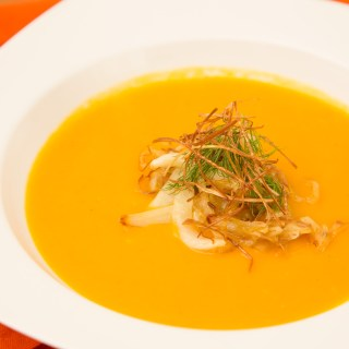 Butternut Squash Soup with Leeks and Fennel