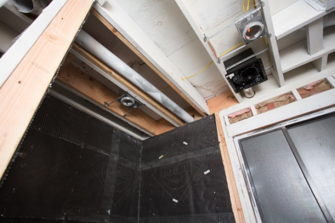 New Wood Support, New Lights, & Getting the Shower Walls Waterproof