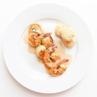 New Orleans BBQ Shrimps with Mini Rosemary Biscuits