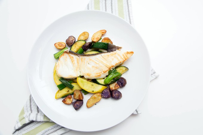 Halibut with Summer Squash and Roasted Potatoes 2| The Missing Lokness