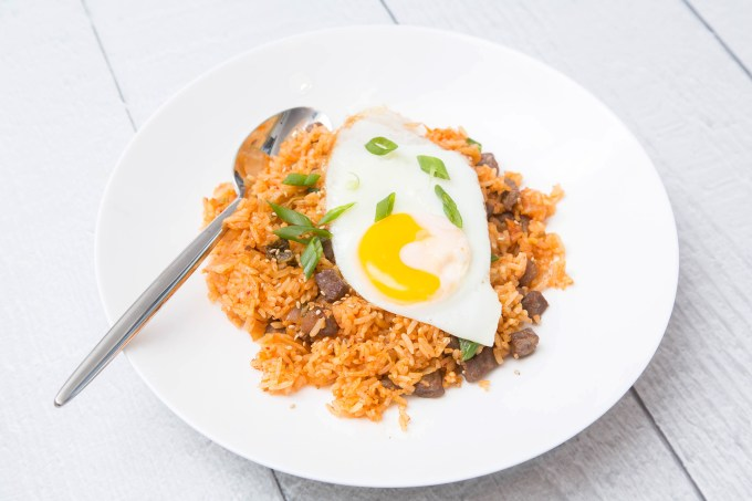 Kimchi Fried Rice with Beef 1 | The Missing Lokness