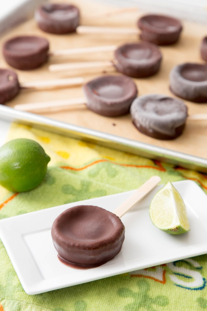 Chocolate Dipped Frozen Key Lime Pies 1| The Missing Lokness