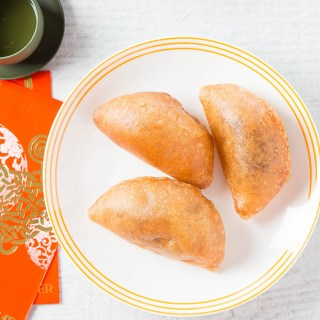 Fried Red Bean Puffs #redbean #azukibean #chinesenewyear #chineserecipe #friedfood #glutinousriceflour #dessert #dessertrecipe #snack | The Missing Lokness