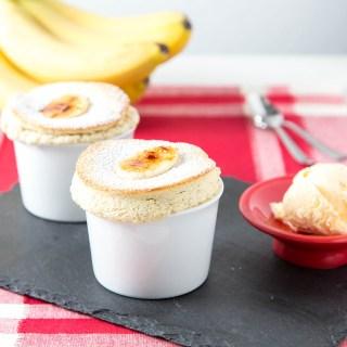 Roasted Banana Souffles