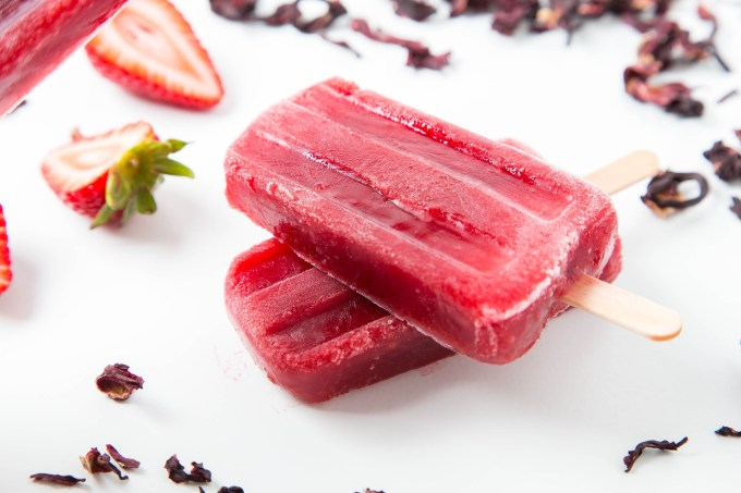 Strawberry Hibiscus Ice Pops | The Missing Lokness