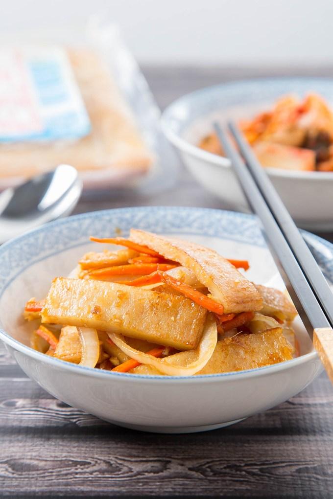 Eomuk Bokkeum (Korean Stir-Fried Fish Cake) #fishcake #stirfry #banchan #sidedish #koreanrecipe #dinner #dinnerrecipe | The Missing Lokness