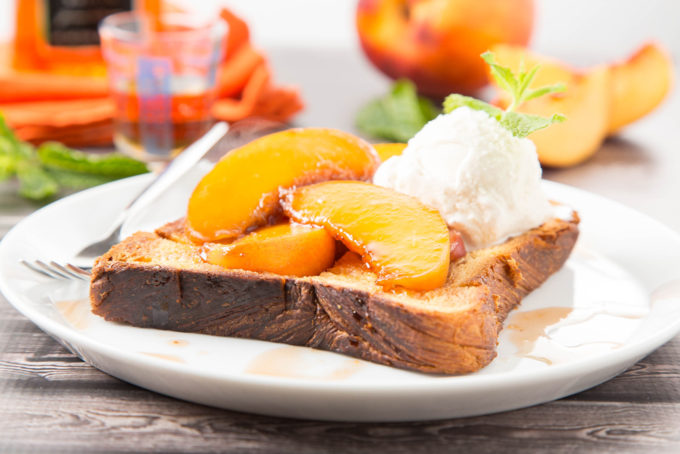 Bourbon-Glazed Peach Brick Toast 2| The Missing Lokness