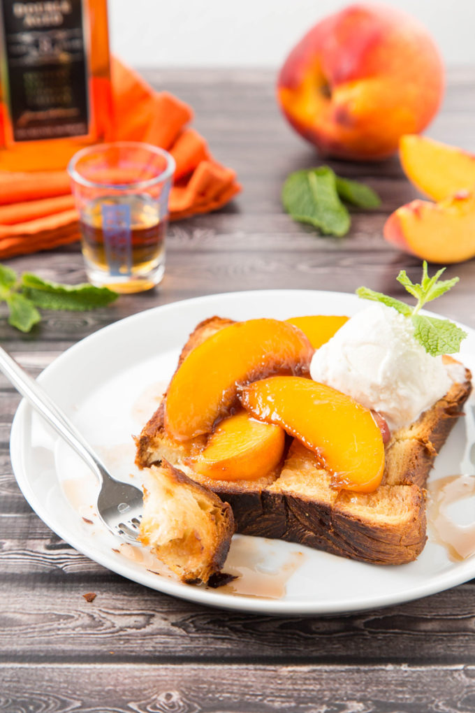 Bourbon-Glazed Peach Brick Toast 3| The Missing Lokness