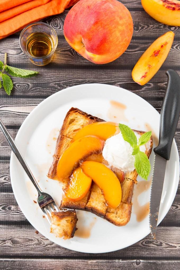 Bourbon-Glazed Peach Brick Toast 4| The Missing Lokness