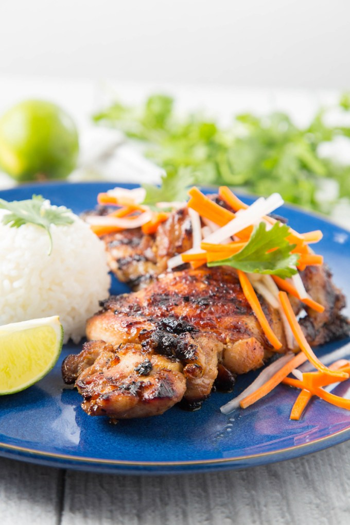 Vietnamese Grilled Lemongrass Chicken Thighs 3| The Missing Lokness