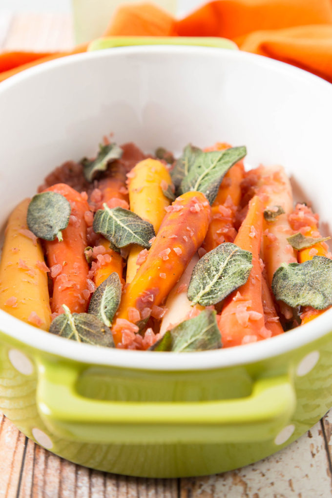 Wine-Braised Rainbow Carrots with Sage 2| The Missing Lokness